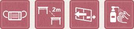 箱根の湯 3密防止対策